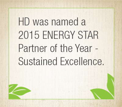 HD was named a 2015 ENERGY STAR Partner of the Year
