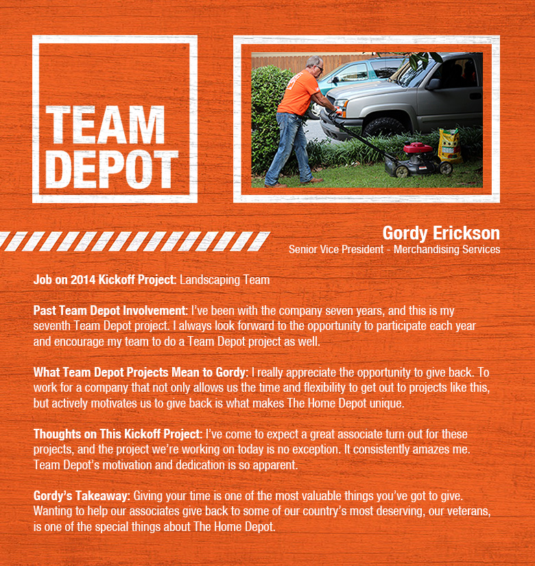 Home depot team projects