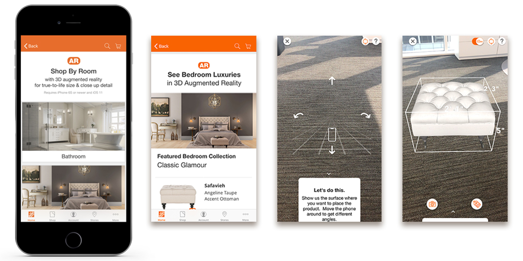 Home Depot Mobile App augmented reality