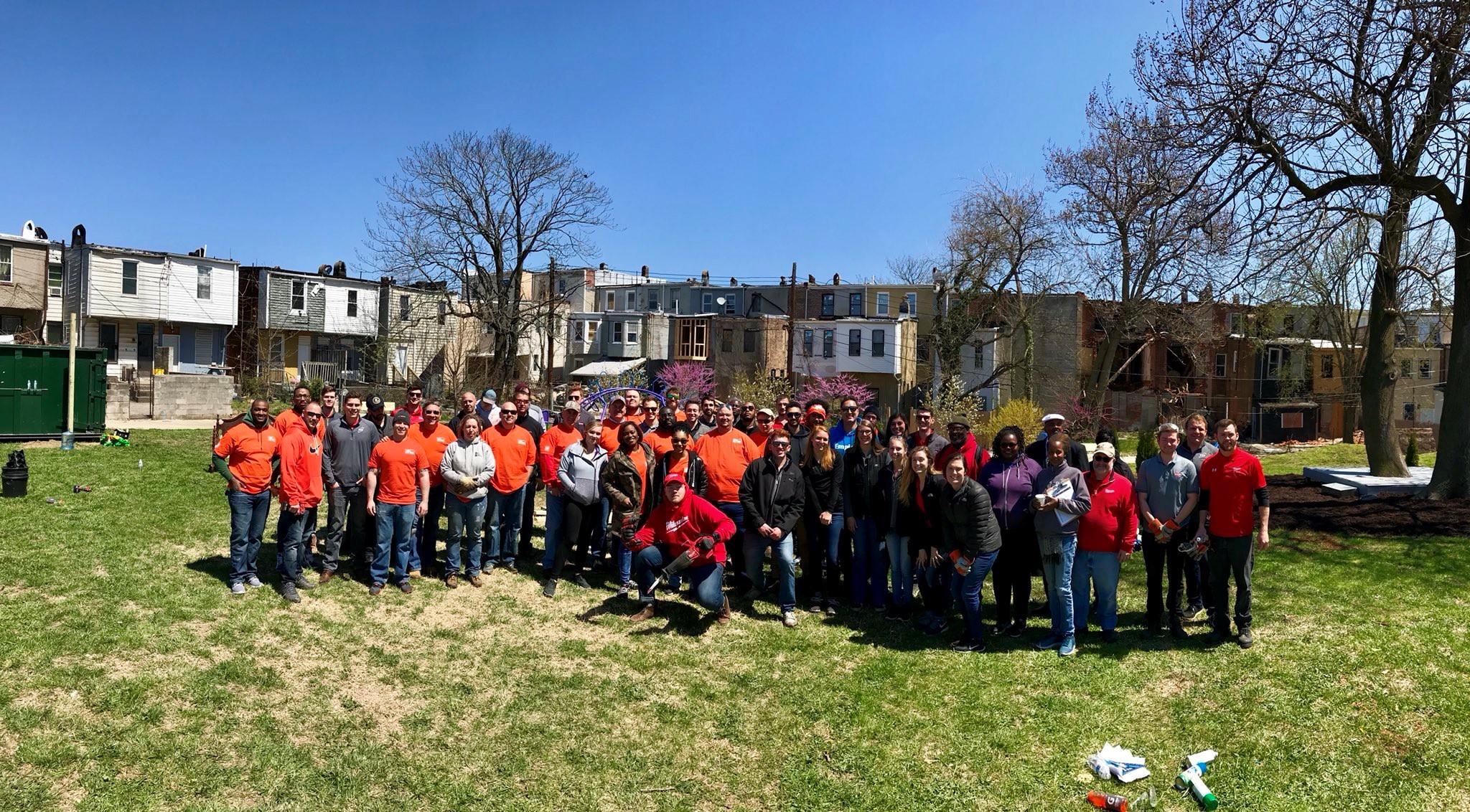 c14182b4928 Team Depot volunteers in Baltimore ...