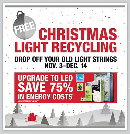 Home Depot Christmas Lights Recycling Program