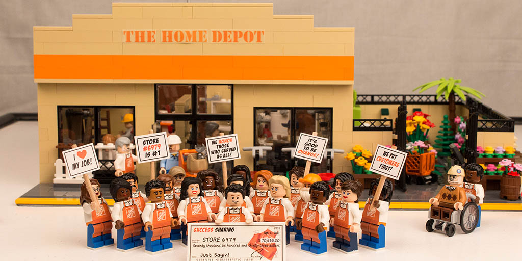 The Home Depot built in LEGOs