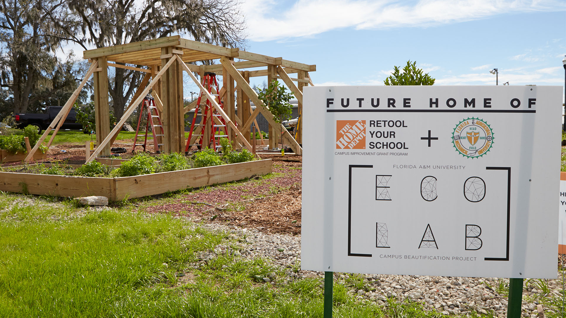 FAMU eco lab, funded by Retool Your School grant.