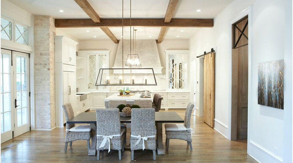 Timber ceiling beams