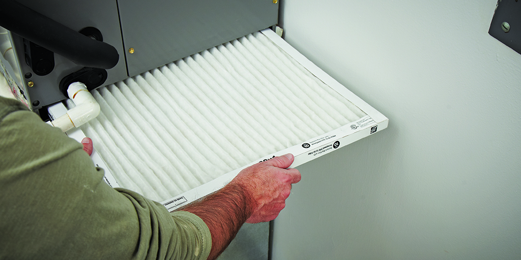 Changing air filter improves HVAC performance