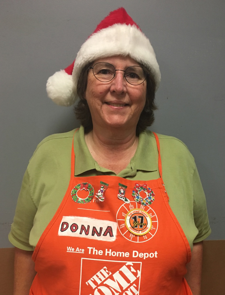 Home Depot associate Donna in apron