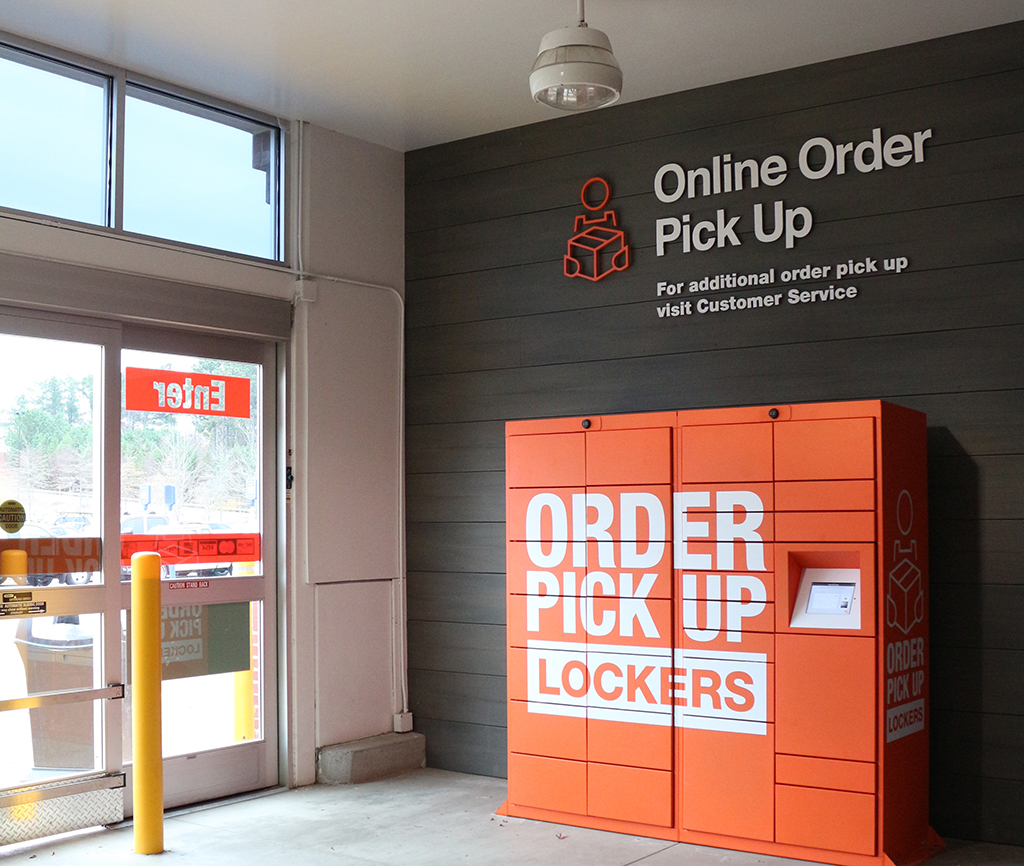 Home Depot order pick up lockers