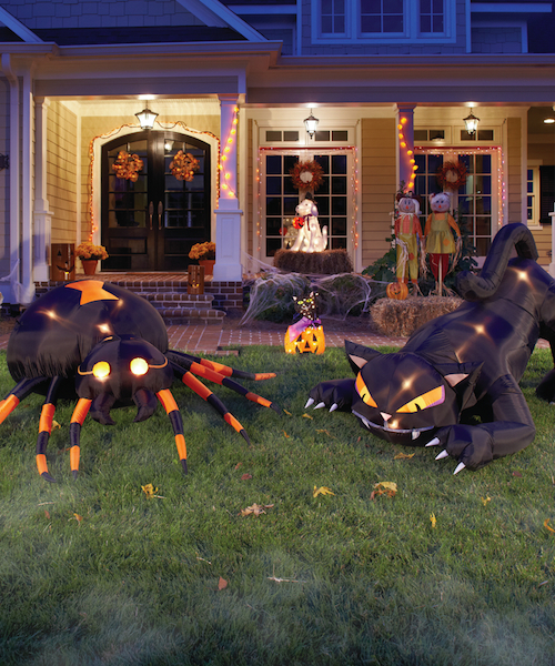 large inflatables are another popular item during halloweentheyre a kid favorite and a great yard centerpiece they also serve as a good first step for
