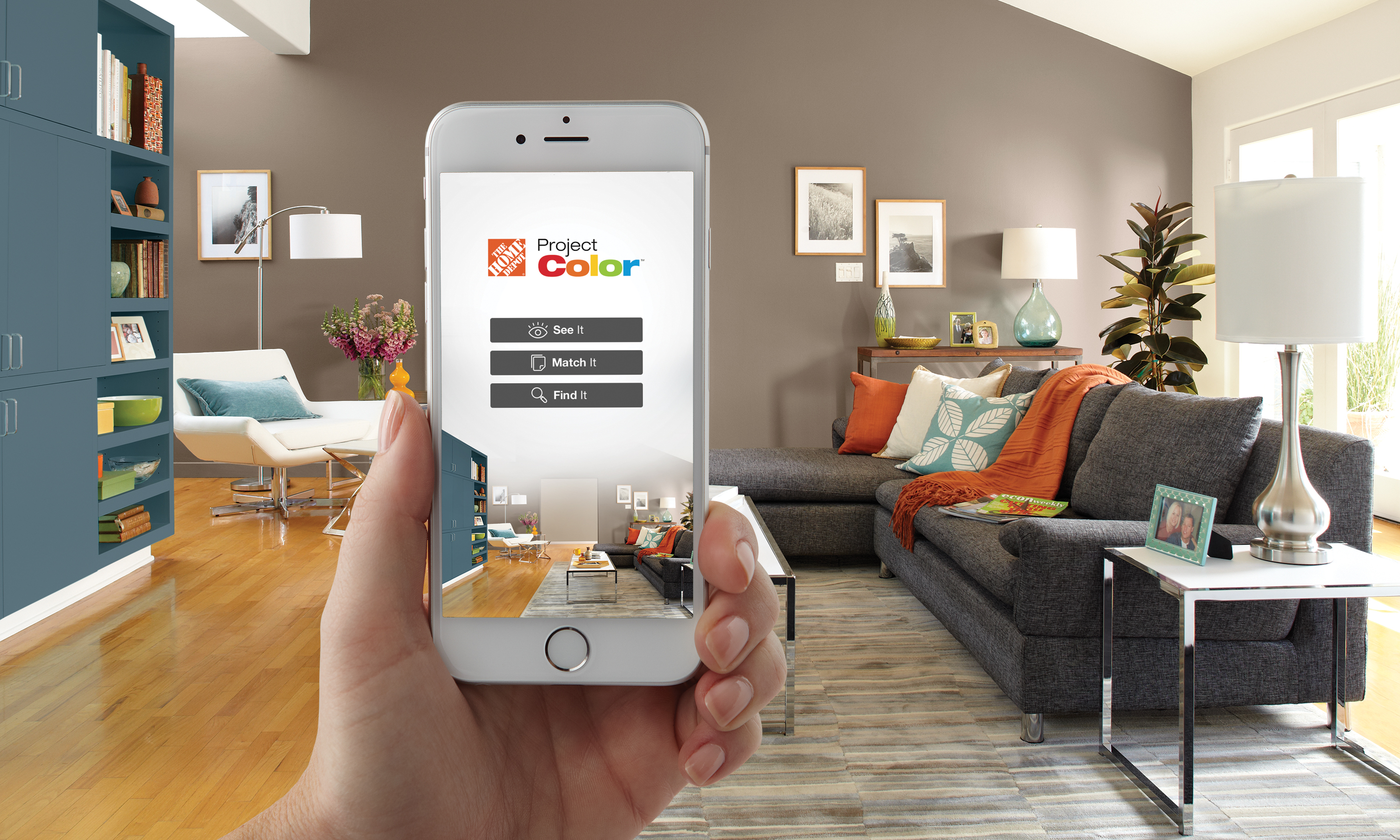 The home depot new technology shows you the perfect paint color before its on your walls