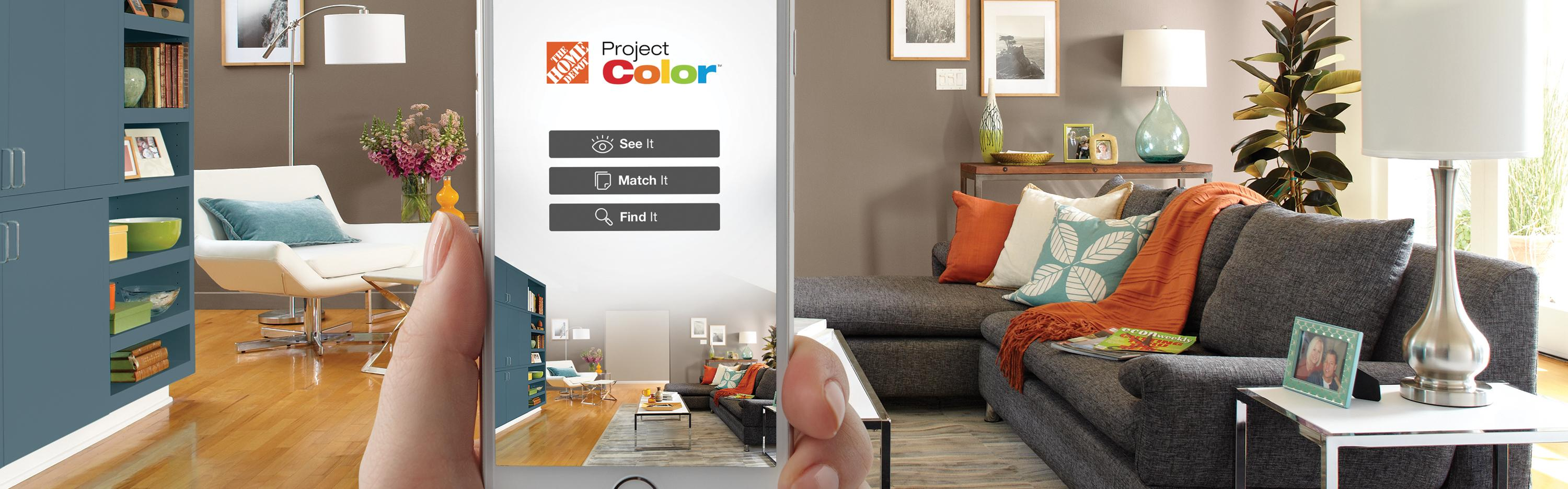 The Home Depot | New Technology Shows You the Perfect Paint Color ...