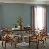 Behr color of the year painted wall in dining room
