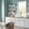 Behr color of the year painted wall in kitchen