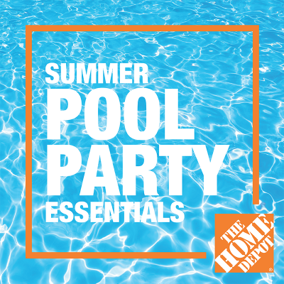 Summer pool party at The Home Depot