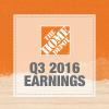 The Home Depot announces Q3 2016 results