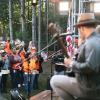 Team Depot volunteers watch Zac Brown perform