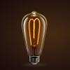Feit glass bulb with curved filament