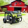 Ryobi generator outside a home
