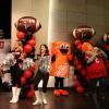 Falcons and Home Depot mascots