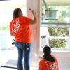 Team Depot volunteers painting