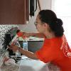 Team Depot volunteer working in kitchen