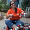 Team Depot volunteer with ornaments
