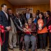 Veteran and mother cut home ribbon