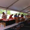 Volunteers packing hurricane relief kits