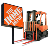 The Home Depot Sign and Forklift Operations Highlight in the Hero