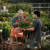 Home Depot associate in garden