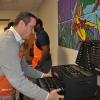 Team Depot volunteer placing tools