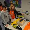 Home Depot associate showing tools in Tool Center
