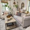 Blogger's recently re-decorated living room