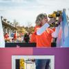 Team Depot volunteers building playhouse