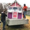 Team Depot delivering playhouse