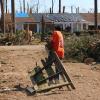 Team Depot volunteer clearing debris
