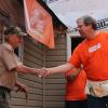 Team Depot volunteer shakes Ace's hand