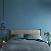 Bedroom painted in Blueprint by Behr