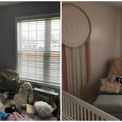 Team Depot before and after nursery makeover